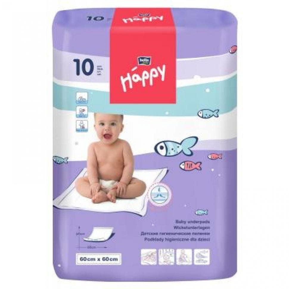 Пеленки Bella Baby Happy 60x60 см 10 шт (5900516601669) - Kidr