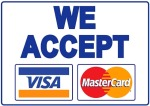 We accept VISA and MasterCard via LiQPay System