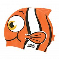 Zoggs Шапочка для плавання Junior Character Silicone Cap - Goldfish Orange (303731) - купить на kidr.com.ua (сеть детских магазинов Kid's Republic™)