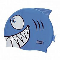Zoggs Шапочка для плавання Junior Character Silicone Cap - Blue Jaws (301732) - купить на kidr.com.ua (сеть детских магазинов Kid's Republic™)