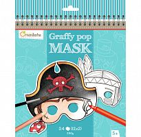 "Раскраска ""Мальчуган"", серия Pop Mask, Avenue Mandarin™ Франция (GY022O)"